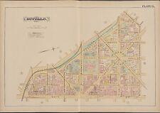 1891 BUFFALO NEW YORK CITY HALL ST. JOSEPH'S COLLEGE TERRACE - MAIN ST ATLAS MAP