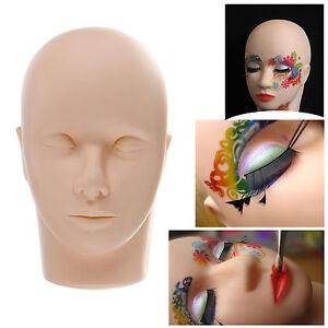 Practice Flat Mannequin Training Head For Eyelash Extensions Makeup & Massage ✔