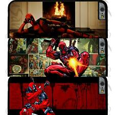 Deadpool Style Back Hard Case Cover For iPhone 4 4S 5 5S 5C SE 6 6S 6 Plus