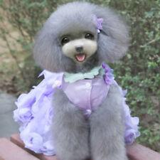 Dog Rose Flower Dress Up Tutu Skirt Princess Dress for Christmas L Purple
