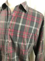 Carbon 2 Cobalt Mens Gray Corduroy Plaid Shirt Size Large