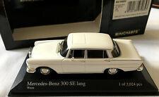 MERCEDES - BENZ 300 SE LANG 1965 MINICHAMPS 400035200 1/43 SCALE WHITE