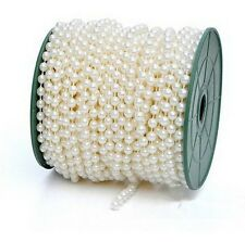 5m of 8mm Bead Pearl String Ivory and white for Craft , Wedding Decoration