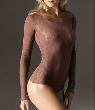 WOLFORD LILIE STRING BODY 79098, BODYSUIT, SMALL, in madeira 4743, New in box