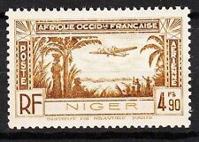 NIGER TIMBRE COLONIE PA FRANCE  NEUF N° 4 **  AVIATION