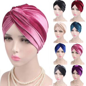 Women Ladies Indian Turban Hat Head Wrap Stretchable Chemo Pleated Hijab Cap Hat