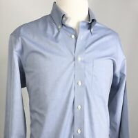 BROOKS BROTHERS 346 REGULAR FIT NON-IRON BLUE BUTTON DOWN DRESS SHIRT 17 4/5
