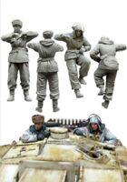 1/35 Resin Figure Model Kit WWII WW2 German Stug Tank Crew Soldiers Unpainted