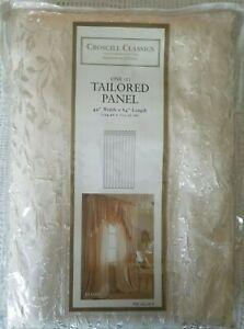 "Croscill Classics Ivory Tailored Panel Curtain 'Jillian' 49"" x 84"""