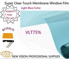 VLT75% 76cmX6m 2PLY 2Mil Blue Window Tint Film SRC Automotive Super Clear Touch