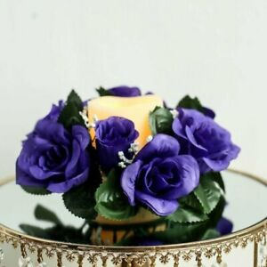 New PK of 3 Candle Holder Rings Roses