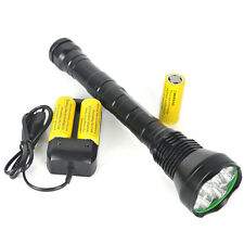 11000Lm 9xXM-L T6 LED Flashlight Torch 5 Modes Light Lamp 26650 + Charger
