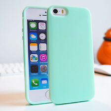 Soft Slim Glossy Silicone Gel TPU Bumper Cover Case for iPhone 4 5 5C 6 7 8 Plus