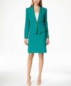 NWT Tahari ASL Crepe Shawl Collar Skirt Suit , Size 2
