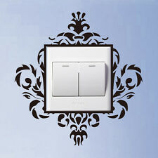 Damask flourish light switch flower patten sticker wall sticker UK
