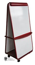 Lifesize Modern Red Office Easel Dry Erase Board Classroom Teaching Presentation