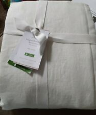 Pottery Barn Belgian Flax Linen Duvet Cover, twin size Ivory, Free Shipping