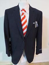 NEW $150 Sz 42L Navy Blue 2 Button Stafford Classic Fit #04J Suit Blazer Jacket