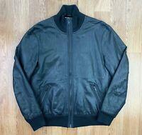 Vintage DKNY JEANS Mens LAMB LEATHER Jacket | Designer Retro | Large L Black