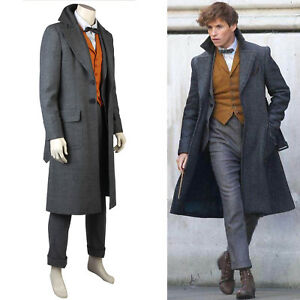 The Crimes of Grindelwald Newt Scamander Halloween Coat Costume Cosplay Christma