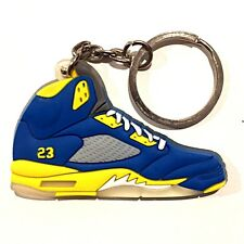 714abc633c8a AIR JORDAN V 5 RETRO SHANGHAI LANEY BLUE SUPREME OG SNEAKER SHOES KEY CHAIN  RING