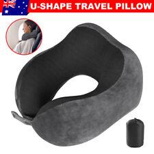 Memory Foam Rebound U-shape Pillow Comfortable Travel Neck Support Headrest Pad
