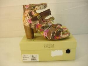 NIB Women's 8.5 39 L'Artiste by Spring Step Agatiala Brown Floral Sandals Heels