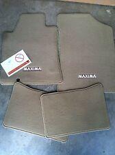 NEW OEM 2009-2014 BEIGE NISSAN MAXIMA 4PC CARPET FLOOR MAT SET