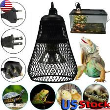 Pet Reptile Heating Lamp Infrared Ceramic Light+Safety Cage Emitter Heat Lamp Us