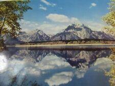 Jackson Lake Teton Range Wy Vintage Postcard 51863 Wyoming