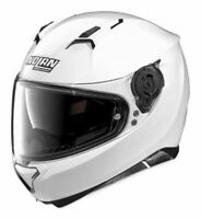 NOLAN N87 SOLID HELMET METALLIC WHITE