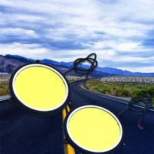 2xCar LED day running light Flexible COB Daylight  round waterproof Set