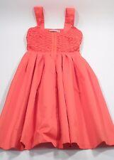 Orange Kookai Mini Party Dress w/ Lace Bustier Top & Flared Short Skirt Size 34