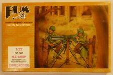 Bum 1/32 Machine Gun Group With Barbed Wire & Figures Model Kit