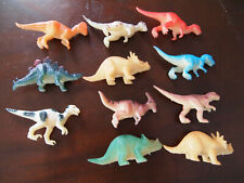 11 dinosaures en plastique, tirex, stégosaure, tricératops, figurines Dinosaurus