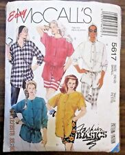 McCALL'S SEWING PATTERN NO. 5617 LADIES SHIRT SIZE 10,12  CUT OUT