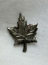 Vintage Sterling Maple Leaf Tie Tack Souvenir Canada Syrup