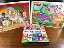 New! MELISSA & DOUG 48-piece Puzzles, Matching Game Educational Learning Toy Lot