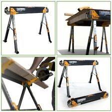 2-Pack Toughbuilt Steel Folding Portable Saw Horse Pair Heavy-Duty SafeTool C700