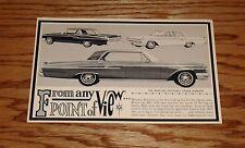 Original 1962 Mercury Monterey 4-Door Hardtop Postcard Brochure 62