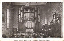 Drax near Selby. Music Room, Westfield Pleasure Gardens. Card by Goole Times.