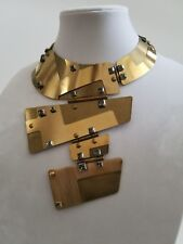 Lanvin Dress Swarovski crystal hinged bib necklace/Chocker/belt, brooch,ring*WOW