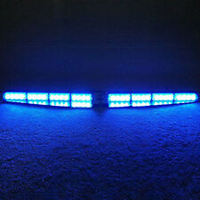 Shiny 32LED Blue Lights Car Police Emergency Traffic Advisor Strobe Bar 12V