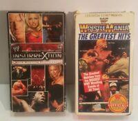 WWF WWE WrestleMania Insurrection VHS TAPE LOT vintage works
