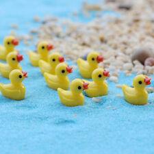 10PCS Miniature Resin Yellow Ducks Dollhouse Craft Fairy Garden Bonsai Decor 99