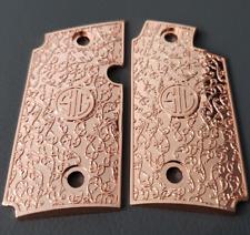 Custom Sig Sauer P238 Grips Scroll Pistol Grips Metal Sig P238 Rose Gold Plated