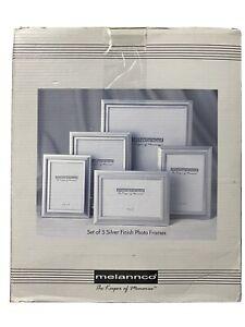 Melannco Set Of 5 Silver Finish Photo Frames