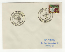 République Malgache 1timbre sur lettre FDC 1959 tampon Tananarive /L546