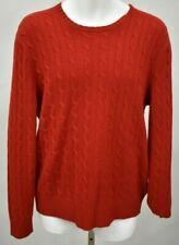 POLO RALPH LAUREN Size Large Red Cable Knit Cashmere Sweater