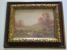 EDWARD NICHT PAINTING ANTIQUE NEW YORK IMPRESSIONIST LANDSCAPE AMERICAN LISTED